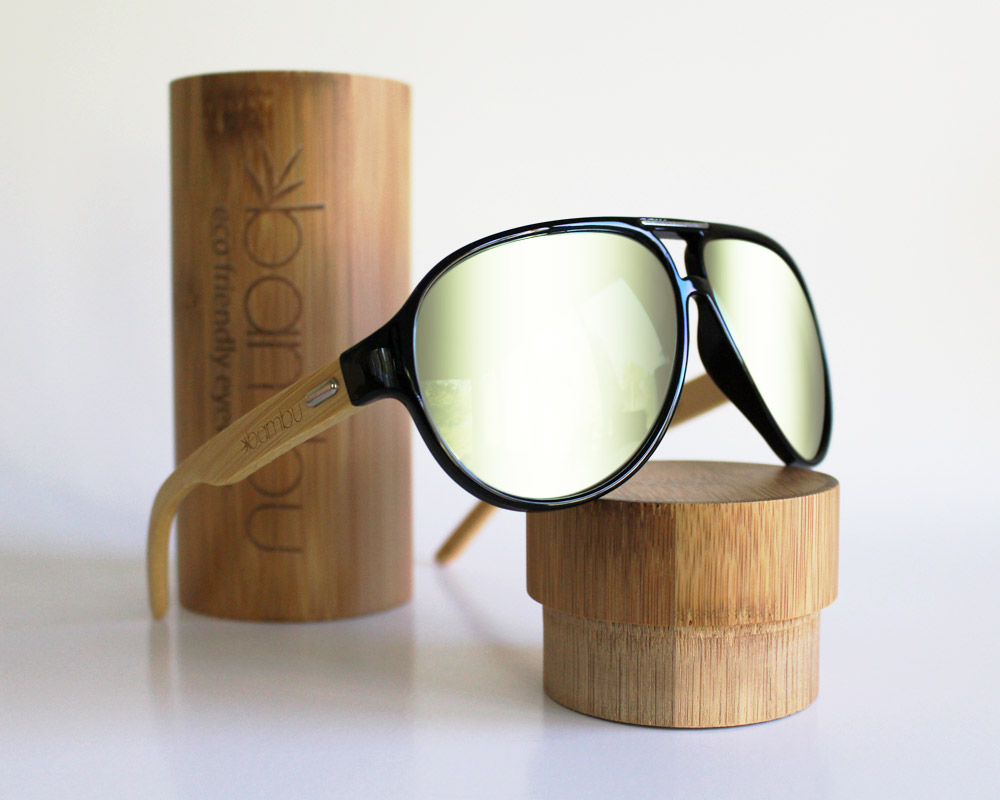 Eco friendly bamboo polarized sunglasses - bambuglasses.com