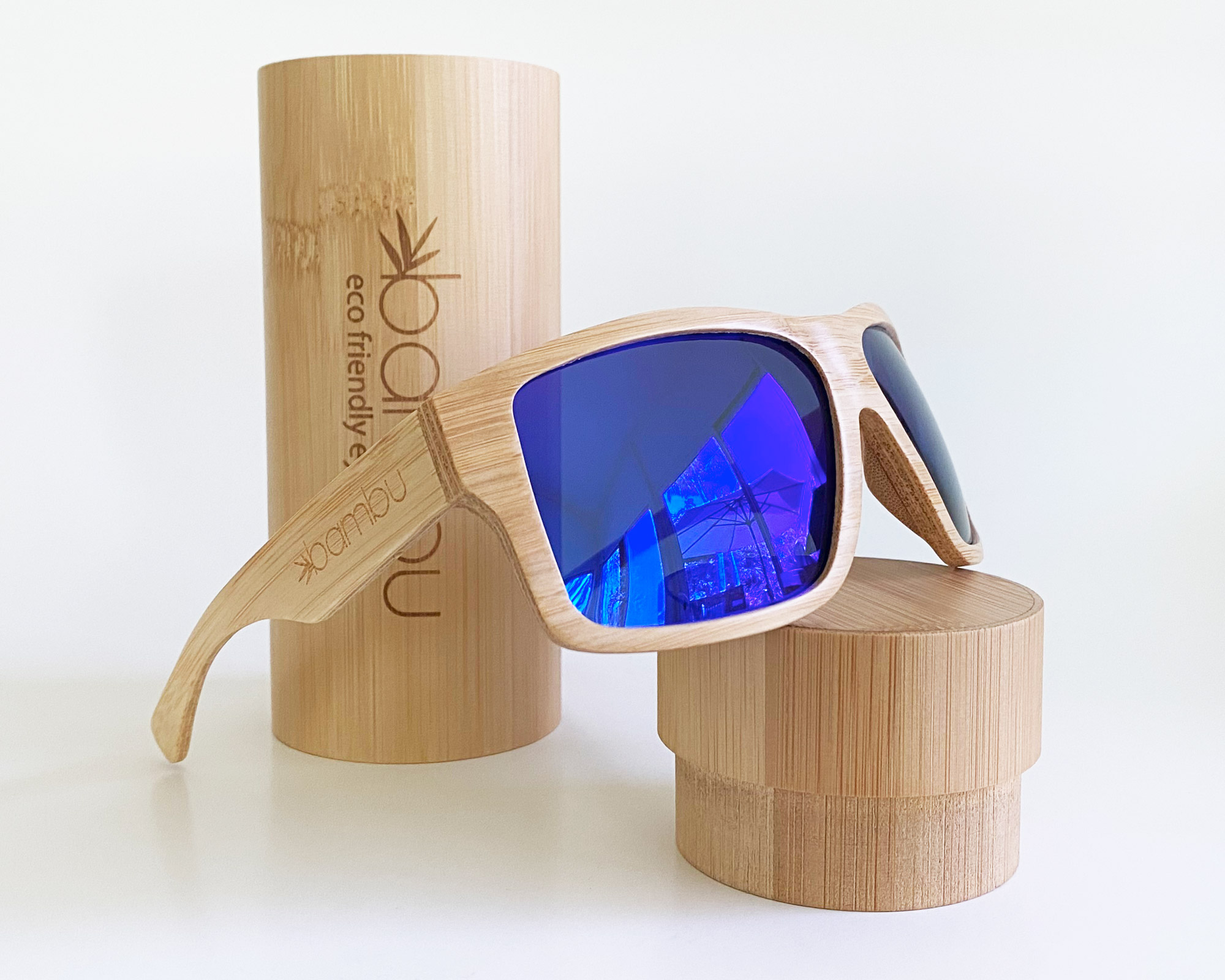 Youngblood - Solid bamboo eco-friendly polarized fishing sunglasses